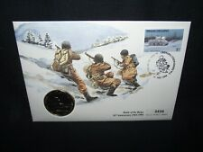 Battle of the Bulge anniversary Grenada $5 coin cover. limited edition