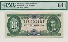 1975 Hungary 10 Forint PMG64 EPQ UNC  <P-168e>