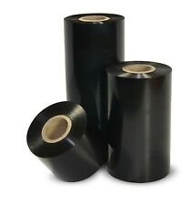 100 ROLLS OF BLACK WAX THERMAL TRANSFER RIBBON TTR 85MMx300M FOR LABEL PRINTERS