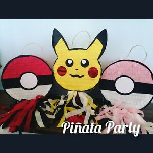 Pikachu pokemon  pokeball inspired boy pinata pop smash birthday party boy game