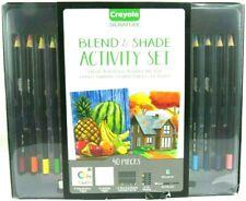 Crayola Signature Blend & Shade Activity Set Color Pencils 40 PC w/ Oil Pastels