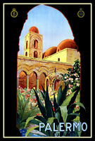 Palermo Italy FRIDGE MAGNET 6x8 Vintage Travel Poster