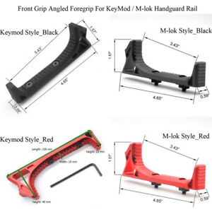 Black/Red Color_Aluminum Angled Handstop Keymod/M-lok Styles Hand Stop Mount Kit