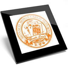 1 X Monaco Monte Carlo Naranja jugando Posavasos De Vidrio-estudiante de cocina regalo #5938