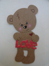 Scrapbooking~ Card making~ Die Cut~ Embellishment~ Paper Piecing ~Teddy~ LOVE #2