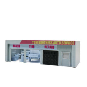 Outland Models Railway Scenery Auto Service Shop & Accessories 1:160 N Scale