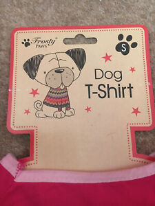 FROSTY PAWS DOG T SHIRTS 24 S/M/L BARGAIN TO CLEAR