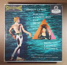 DEBUSSY- RAVEL- Ansermet- La Mer- London-Decca Stereo-WB BB CS 6024- 1K/1K-DG-LP