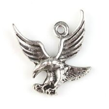 20pcs 19x17mm  Antique Silver Flying Eagle Charms Pendants Jewelry Making