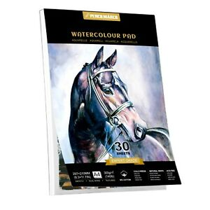 50% COTTON Watercolour Paper Pad A4* 30 Sheets for Watercolour Painting 300GSM