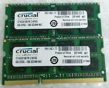 8GB 2x 4GB CRUCIAL CT4G3S1067M.C16FKD DDR3L-1066 laptop PC3L RAM memory module
