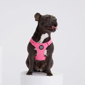 MOSHIQA Pink Bonbon Dog Harness Size M Soft Vest Luxury Wool Cashmere Padded