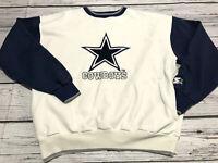 Vintage 90's Starter Dallas Cowboys NFL Graphic Sweater Men's Size L Pullover