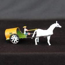 "2.5"" Horse Drawn Cart Metal Bonsai Figurine"