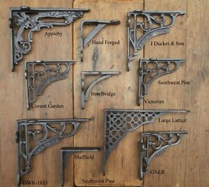 Antique Style Cast Iron Wall-Shelf Brackets Choice Of Design & Size x 1 Bracket