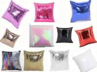 11 Colors Sublimation Blank Reversible Mermaid Pillow Sequin Cover Glitter DIY