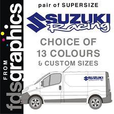 Pair of SUPERSIZE (1m) Suzuki Racing van stickers/decal