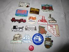 vintage USA Destinations Travel Souvenirs Refrigerator Fridge Magnets & Buttons
