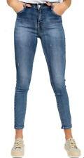 farfallina jeans donna aderenti vita alta slavati sexy pantaloni ragazza push up