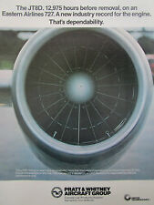 6/77 PUB PRATT & WHITNEY JT8D-15 ENGINE EASTERN AIRLINES BOEING 727 ORIGINAL AD