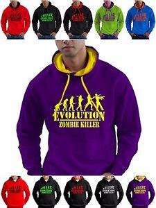 Zombie Killer Gamer Hoodie Sweatshirt Mens Boys for Any Age Kids Girls 14 Sizes