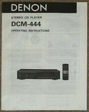 DENON ~ STEREO CD PLAYER OPERATING INSTRUCTIONS FOR DCM-444 ~ MANUAL ONLY