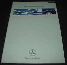 Verkaufstaschenbuch Mercedes W 168 A-Klasse A 160 170 CDI 140 160 190 01/2001