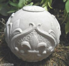 """New listing latex fleur small garden ball cement plaster mold casting mould 3.75"""" x 3"""""""