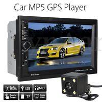 7'' 2DIN Bluetooth Autoradio Coche MP5 Reproductor GPS Navegación AUX-IN+Camara
