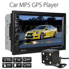 7'' 2DIN Bluetooth Autoradio Coche MP5 Reproductor GPS Navegación AUX-IN+Caméra