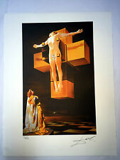 Salvador Dali Litografia 50 x 65 Bfk Rives Timbro a secco Firmata a Matita D099