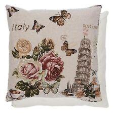 Clayre&Eef Kissenhülle Kissenbezug Italien Pisa Vintage Rosen Shabby
