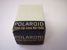 Polaroid Close-Up Lens Kit 540 w/ Leather Case 3 Lenses In Box
