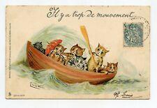 illustrateur Louis WAIN  . Chats humanisés