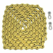 New YBN 12 Speed S12 Bike Bicycle Chain Road MTB 126 Link & Master Link - Gold