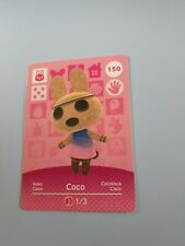 Animal crossing amiibo card series 2 Coco 150 New Unscanned!