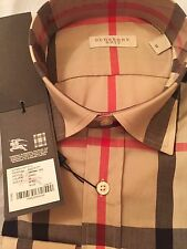 Burberry Brit Camel Check Casual Men's Shirt Size L