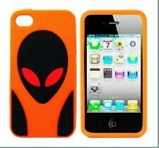 Alien Character 3D Soft Silicon Back Case Cover for iPhone 4/4s