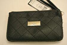 New/DEFECT.BCBG paris black color PVC zipped wristlet