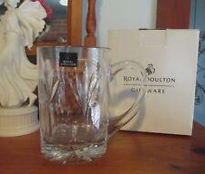 ROYAL DOULTON ~ Crystal Tankard ~ Cut Glass Pint Mug ~ Boxed ~ Titan
