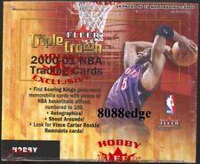2000-01 00-01 FLEER TRIPLE CROWN NBA HOBBY SEALED BOX: VINCE CARTER/IVERSON AUTO