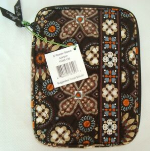 VERA BRADLEY E-Reader Tablet Sleeve Padded Protect - Canyon Brown - New with Tag