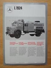 Mercedes benz L1624, L1924 mousse tank fire fighting vehicle 1974 dépliant brochure