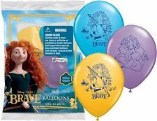"6 pc 12"" Brave Disney Princess Merida Party Latex Balloons Happy Birthday Pixar"