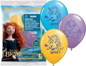 "6 pc 12"" Brave Disney Princess Merida Party Latex Balloons Happy Birthday Pixar"