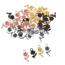 40pcs Flower Rose Shape DIY Pendant Charms Necklace Earrings Jewelry Making