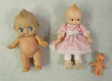 LOT OF 3 VINTAGE LOOSE JESCO KEWPIE DOLLS VARIOUS TYPES ROSE O'NEILL