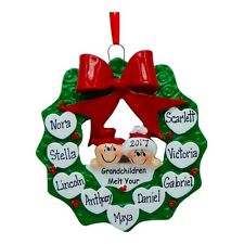 NAME PERSONALIZED Snow Grandparents 9 Grand Kids Christmas Ornament Holiday Gift