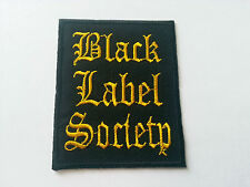 HEAVY METAL PUNK ROCK MUSIC SEW / IRON ON PATCH:- BLACK LABEL SOCIETY No. 0013