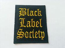 HEAVY METAL PUNK ROCK MUSIC SEW / IRON ON PATCH:- BLACK LABEL SOCIETY No. 0013